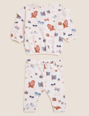 2pc Cotton Nature Print Outfit (0-3 Yrs)