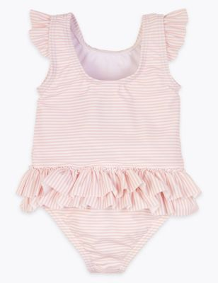 Seahorse Striped Swimsuit (0-3 Yrs)