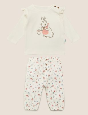 2pc Pure Cotton Peter Rabbit™ Outfit (7lbs - 3 Yrs)