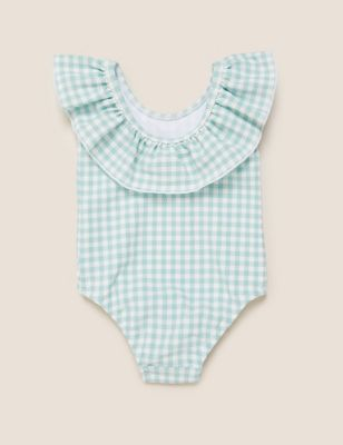 Gingham Frilled Swimsuit (0-3 Yrs)