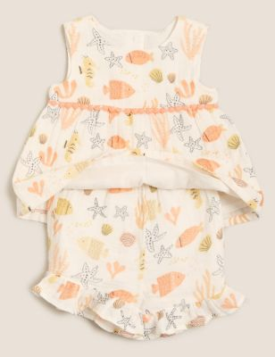 Pure Cotton Skort Outfit (0-3 Yrs)