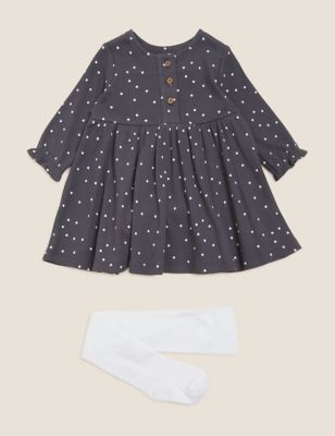 2pc Cotton Spot Outfit (0-3 Yrs)
