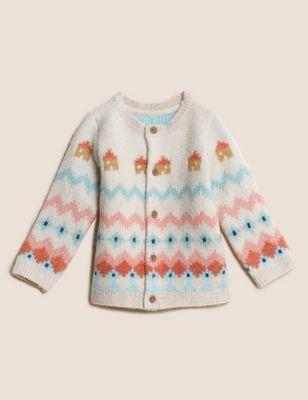 Fair Isle Knitted Cardigan (0-3 Yrs)