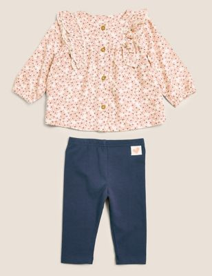 2pc Floral Outfit (0-3 Yrs)
