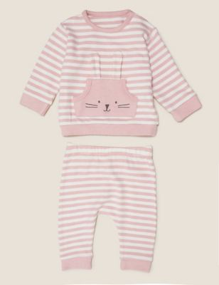 2pc Super Soft Stripe Outfit (0-3 Yrs)
