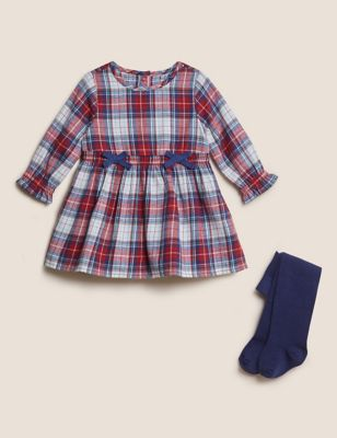 2pc Pure Cotton Check Print Outfit (0-3 Yrs)