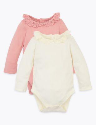 2 Pack Organic Cotton Bodysuits (7lbs-12 Mths)