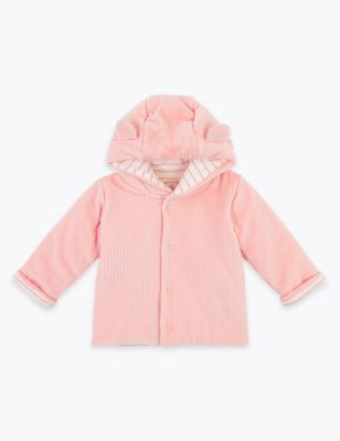 Cotton Velour Hooded Jacket (7lbs-12 Mths)