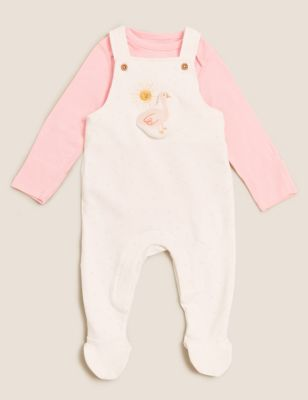 2pc Cotton Dungaree Outfit (7lbs - 12 Mths)