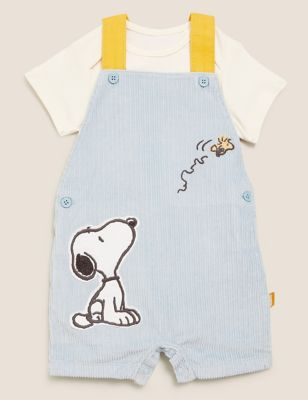 2pc Pure Cotton Cord Snoopy™ Outfit