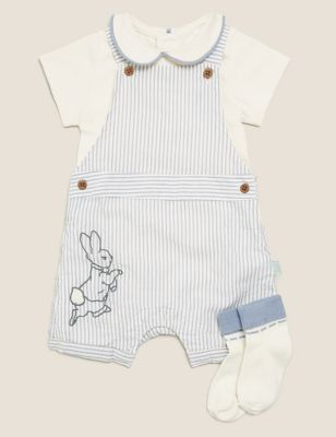 3pc Pure Cotton Peter Rabbit™ Outfit (0-3 Yrs)