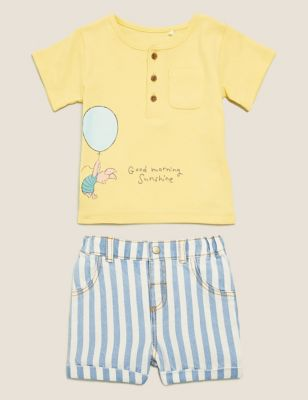 2pc Pure Cotton Winnie the Pooh™ Outfit (7lbs-3 Yrs)