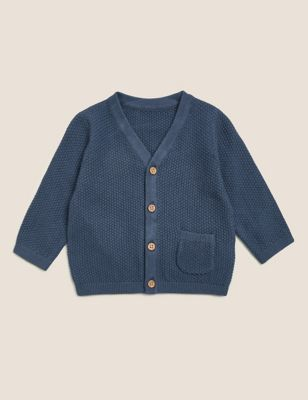 Pure Cotton Knitted Cardigan (0-3 Yrs)