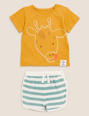 2pc Cotton Giraffe Outfit (0-3 Yrs)