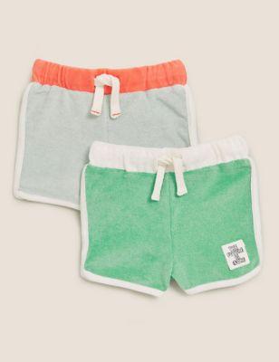 2pk Cotton Shorts (0-3 Yrs)