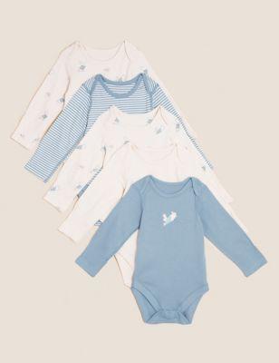 5pk Pure Cotton Peter Rabbit™ Bodysuits (61/2lbs - 3 Yrs)