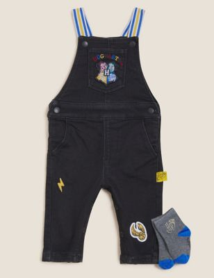 3pc Cotton Harry Potter™ Dungaree Outfit (0-3 Yrs)