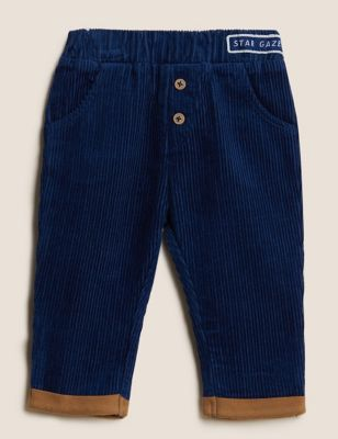Pure Cotton Cord Trousers (0-3 Yrs)