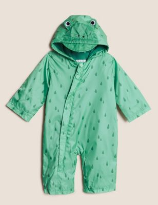 Hooded Frog Puddlesuit (0-3 Yrs)