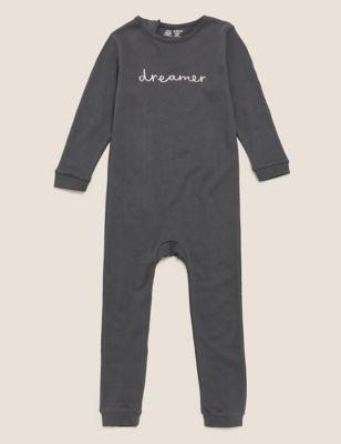 Adaptive Pure Cotton Slogan Sleepsuit (3-16 Yrs)