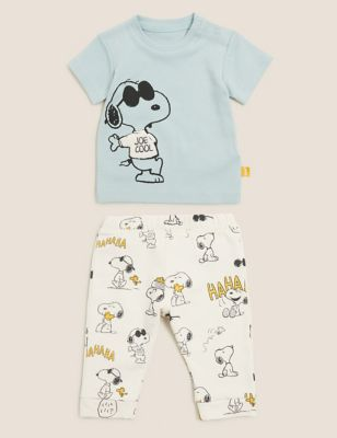 2pc Cotton Snoopy™ Outfit (7lbs-3 Yrs)