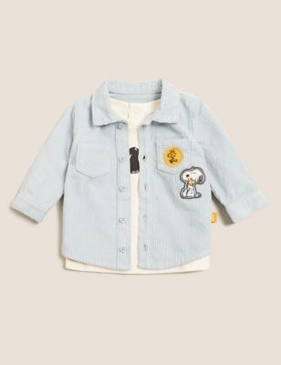 2pc Pure Cotton Snoopy™ Shirt with T-Shirt (0- 3 Yrs)