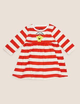Pure Cotton Jersey Mr. Men™ Striped Dress (7lbs-3 Yrs )