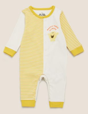 Pure Cotton Mr. Men™ Striped All in One (7lbs-3 Yrs )