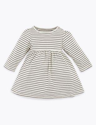 Cotton Striped Dress (0-3 Yrs)