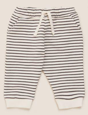 Cotton Striped Joggers (0-3 Yrs)