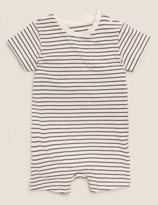 Organic Cotton Striped Romper (0-3 Yrs)