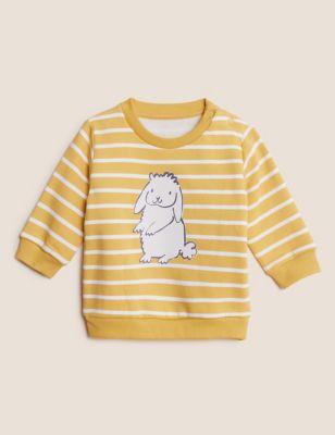 Cotton Bunny Striped Sweatshirt (0-3 Yrs)