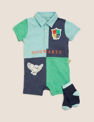 2pc Pure Cotton Harry Potter™ Romper Set (7lbs-3 Yrs)