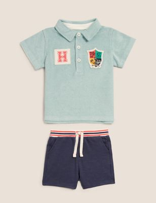 2pc Cotton Harry Potter™ Polo Outfit (0-3 Yrs)