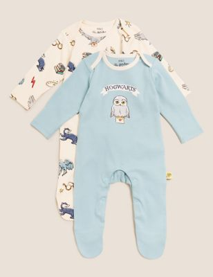 Harry Potter™ 2pk Pure Cotton Sleepsuits (7lbs-3 Yrs)