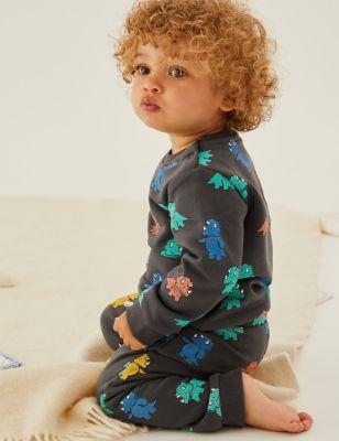 Cotton Dinosaur Sweatshirt (0-3 Yrs)