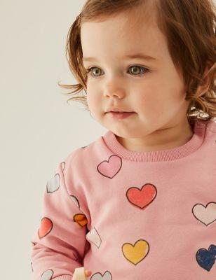 Cotton Love Heart Sweatshirt (0-3 Yrs)