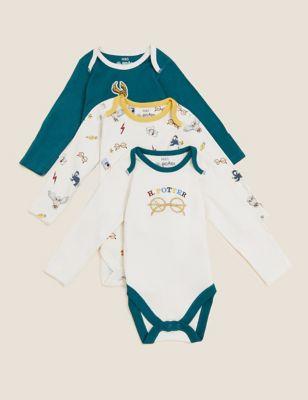 3pk Pure Cotton Harry Potter™ Bodysuits (0-3 Yrs)