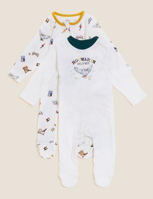 Harry Potter™ 2pk Pure Cotton Sleepsuits (0-3 Yrs)
