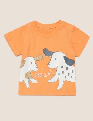 Organic Cotton Dog Print T-Shirt (0-3 Yrs)