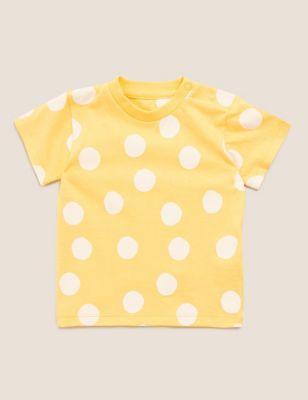 Organic Cotton Polka Dot T-Shirt (0-3 Yrs)