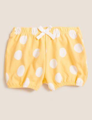 Cotton Polka Dot Shorts (0-3 Yrs)
