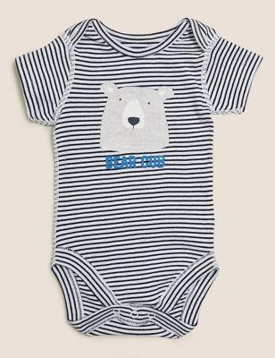 Mini Me Striped Slogan Bodysuit (0-12 Mths)