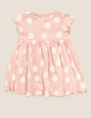 Organic Cotton Polka Dot Dress (0-3 Yrs)