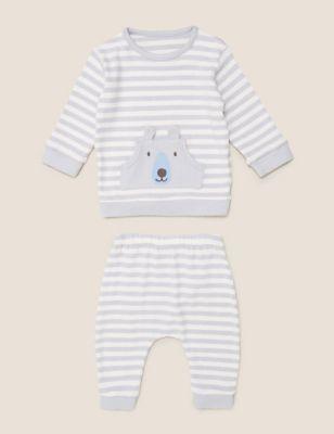 2 Piece Super Soft Stripe Outfit (0-3 Yrs)