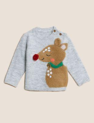 Reindeer Knitted Jumper (0-3 Yrs)