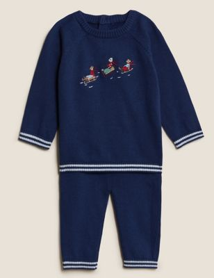 2pc Pure Cotton Animal Outfit (0-3 Yrs)