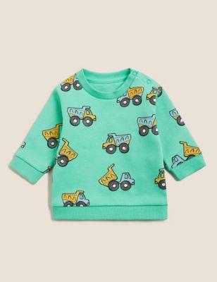 Cotton Transport Print Sweatshirt (0-3 Yrs)