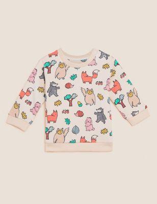 Cotton Woodland Sweatshirt (0-3 Yrs)