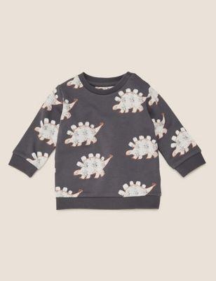 Cotton Dinosaur Print Sweatshirt (0-3 Yrs)